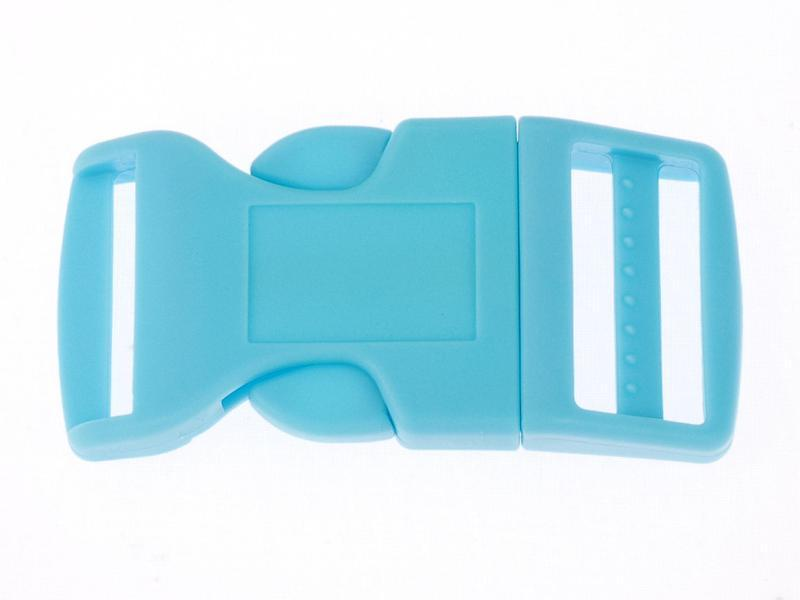 1 x Blue Curved Side Release Acetal Buckles 16mm 17mm (5/8\