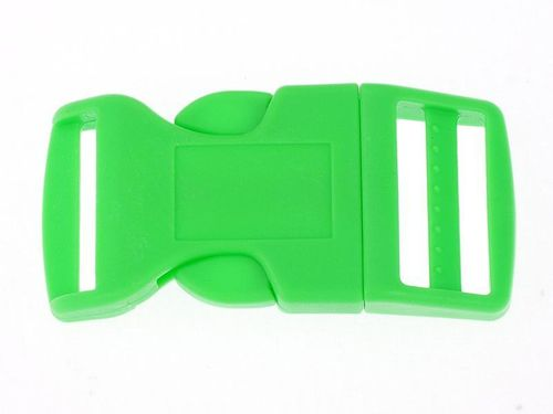 1 x Green Curved Side Release Acetal Buckle - 25mm 1""