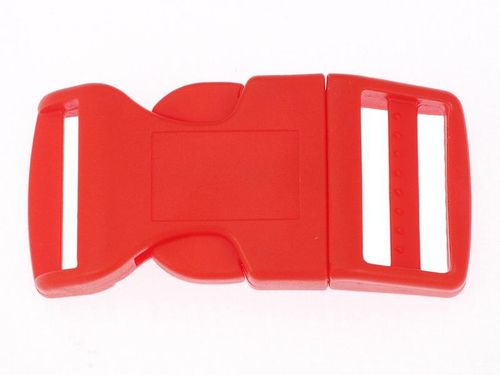 1 x Red Curved Side Release Acetal Buckle - 25mm 1""