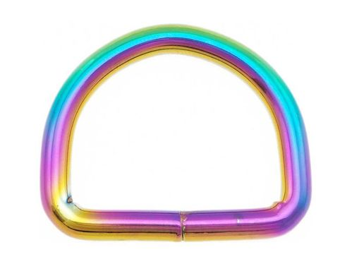 1 x Rainbow Welded D Ring 19mm 20mm 3/4""