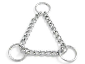 "Stainless Steel Martingale Half Check Chain - 1"" Rings 3mm Chain F"