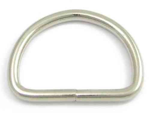"1 x 25mm Stainless Steel Welded D Ring 1"" (4mm Wire)"
