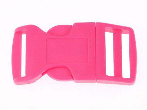 "1 x Pink Curved Side Release Acetal Buckle- 16mm  17mm (5/8"")"