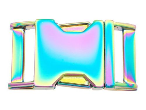Rainbow Metal Side Release Buckle 25mm